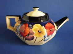 Royal Doulton 'Pansies' Series Octagon Teapot D4049 c1930