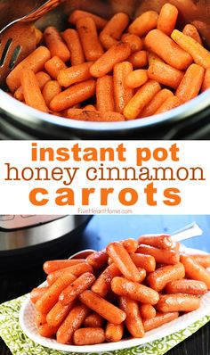 Pressure cooker meals 559361216217839137 - Instant Pot Honey Cinnamon Carrots…a quick and easy recipe for sweet glazed carrots made in the pressure cooker, great for holiday meals or weeknight dinners! Source by fivehearthome Carrots Healthy, Honey Glazed Carrots, Honey Roasted Carrots, Cooked Carrots, Crockpot Carrots, Slow Cooker Pressure Cooker, Instant Pot Pressure Cooker, Easy Pressure Cooker Recipes, Instant Pot Veggies