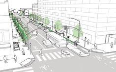 Проект улицы с двусторонним движением