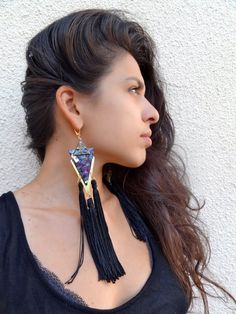 Lithi dangle handmade earrings from by BlameEve on Etsy