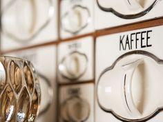 Dorf.Café In Kontakt bleiben. Von Außen. Nach Innen. Klein. Fein. Gemütlich. Restaurants, Tableware, Kaffee, Dinnerware, Tablewares, Restaurant, Dishes, Place Settings