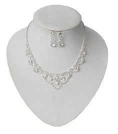 Biżuteria ślubna przepiękny komplet cyrkonie