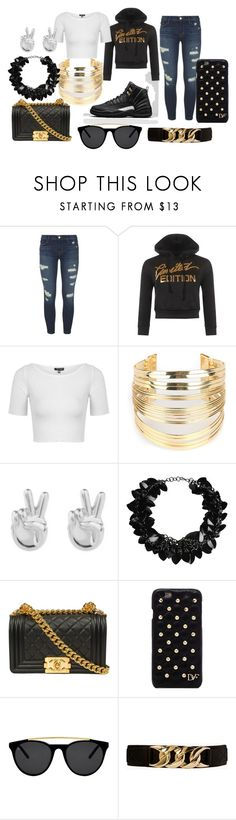 """""""Goin out to da mall wit friends"""" by shamecadavis on Polyvore featuring J Brand, WearAll, Topshop, WithChic, Rock 'N Rose, First People First, Diane Von Furstenberg, Smoke & Mirrors and Forever 21"""