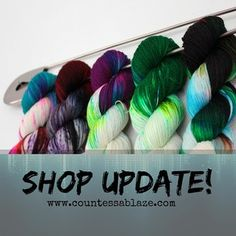 #countessablaze #yarnlove #yarn #knitporn #knittersofinstagram #knitting #crochet #wool #handdyed #handmade #crochet