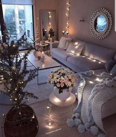 Beautiful Romantic Living Room Design And Decor Ideas 29 Romantic Living Room, Living Room Decor Cozy, Home Living Room, Interior Design Living Room, Living Room Designs, Bedroom Designs, Cozy Apartment Decor, Ikea Interior, Romantic Bedroom Decor