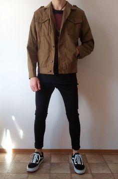 vans old skool black skinny jeans boys guys rebel outfit Stylish Mens Outfits, Casual Outfits, Rebel Outfit, Mode Man, Herren Outfit, Black Skinnies, Black Pants, Vans Old Skool, Men Looks