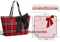 Bag pattern (Sewing and cut) Diy Handbag, Diy Purse, Sac Vanessa Bruno, Diy Pouch No Zipper, Handmade Purses, Linen Bag, Bag Patterns To Sew, Pattern Sewing, Patchwork Bags