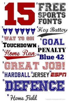 10 Best Free Fonts For Sports Fans Blog Inspiration Sports Fonts