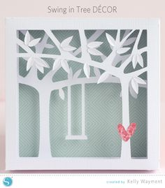 Swing in Tree Decor by Kelly Wayment for Silhouette #silhouettedesignteam
