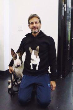 Marc Jacobs with his #Bull #Terrier Neville Jacobs