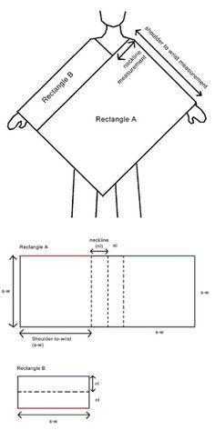montagem poncho 2 retangulos                              …