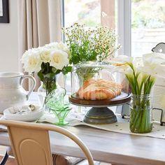 spring table decor,