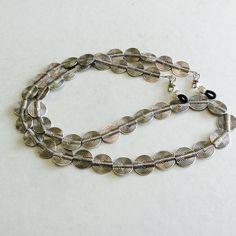 Silver Plated Lentil Eyeglass Chain-Sunglass Chain-Eyeglass Holder-Necklace