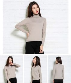 Aliexpress.com : Buy Women Spring Pullover Full Sleeve Turtleneck Cashmere Blend Sweater Solid Color Knitting Sweater from Reliable sweater knit patterns suppliers on CC Cashmere