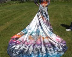 tie dye wedding dress - Google Search