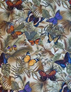 Cotton Fabric, Home Decor, Quilt, Butterflies Rain By Timeless Treasures, Fast Shipping