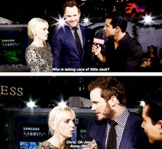 And let's talk about how Anna and Chris are really cute parents, and not afraid to make jokes about parenthood. | 25 Times Chris Pratt And Anna Faris Proved Love Is Real In 2015