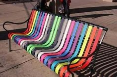 Bench Art, Artists Transforms Bus Stop Bench into Public Art
