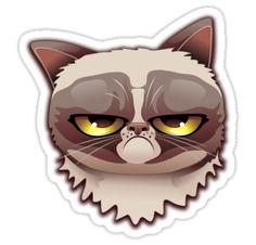 Grumpy Cat Cartoon Portrait Note Cards (Pk of Grumpy Cat Cartoon Portrait> BluedarkArt Crazy Cat Lady, Crazy Cats, Grumpy Cat Cartoon, Cat Clipart, Portrait Wall, Cat Art, Bowser, Funny Cats, Dog Cat