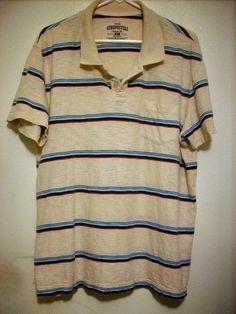 Men's AEROPOSTALE Polo/Golf Shirt Size XL Bone/beige