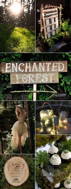 Décoration de mariage thème forêt