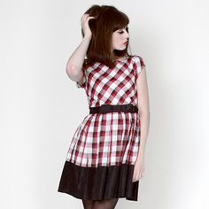 Gillian Dress - Red & Black Plaid