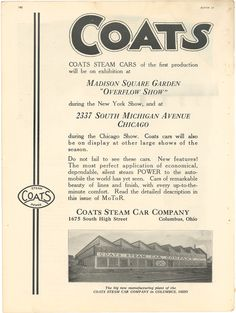 Coats Steam cars