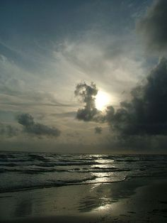 Clouds over White Sand beach
