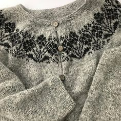 The pattern I picked for this garment is from the book Ornaments and Patterns found in Iceland. It contains a collection of traditional textile patterns from Icelandic manuscripts from as early as Lace Knitting, Knit Crochet, Textile Patterns, Knitting Patterns, Icelandic Sweaters, Hand Knitted Sweaters, Cardigan Pattern, Yarn Crafts, Knitting Projects