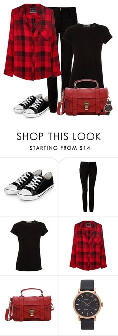 """Black & Red Combo (OUTFIT ONLY!) - Contest!"" by asia-12 ❤ liked on Polyvore featuring T By Alexander Wang, Vince, Rails, Proenza Schouler, Marc by Marc Jacobs, Janna Conner Designs, women's clothing, women, female and woman"