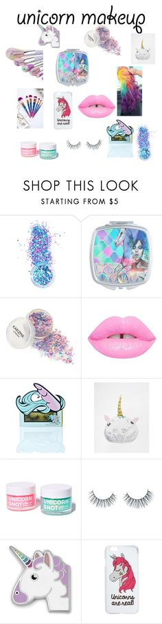 """""""unicorn make up"""" by ts98 on Polyvore featuring beauty, In Your Dreams, Lime Crime, Unicorn Lashes, NPW, FCTRY, FOSSIL, Miss Selfridge and unicorn"""
