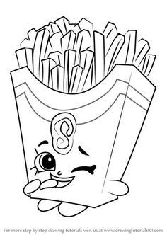 Learn How to Draw Fiona Fries from Shopkins (Shopkins) Step by Step : Drawing Tutorials Shopkins Coloring Pages Free Printable, Shopkin Coloring Pages, Free Kids Coloring Pages, Coloring Book Pages, Coloring Pages For Kids, Coloring Sheets, Adult Coloring, Shopkins To Colour, Doodle Art Letters