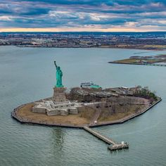 Statue Of Liberty, Liberty Island, New York City by @copterpilotla - The Best Photos and Videos of New York City including the Statue of Liberty, Brooklyn Bridge, Central Park, Empire State Building, Chrysler Building and other popular New York places and attractions.