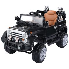 12v mp3 kids ride on truck jeep car rc remote control w led lights music