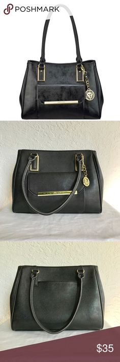 """NWOT Anne Klein Shimmer Down Satchel *NWOT Anne Klein Shimmer Down Satchel *Structured Satchel w/ Gold tone hardware; interior features 2 slip pockets, 1 zip, center zip pocket; exterior features back slip pocket and front magnetic pocket *13 1/2"""" W x 10 3/4"""" H x 6"""" D *No holes rips or tears Anne Klein Bags Satchels"""