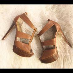 Michael Kors Heels Authentic Michael Kors heels. Worn once, in near perfect condition! Michael Kors Shoes Heels