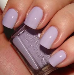 Lavender nails from Essie! Get Nails, Love Nails, How To Do Nails, Pretty Nails, Essie Nail Polish, Nail Polish Colors, French Nails Glitter, Lavender Nails, Lavender Nail Polish