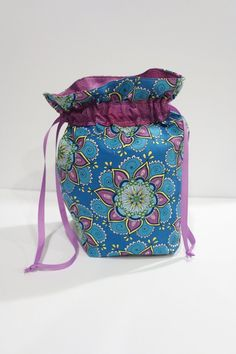 Flat Bottom Drawstring Bag - Kristin Omdahl
