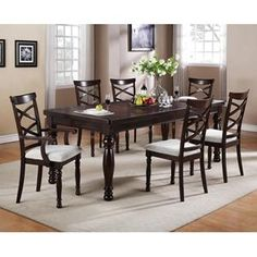 "Merlot Dining Table with 18"" Butterfly Leaf 