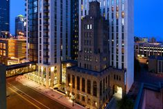 Minneapolis, MN - Hotel Ivy.  A historic landmark in the heart of downtown, the hotel has seven miles of skyway. Features Minneapolis's only spa destination, the Ivy Spa Club. Dramatic 10-foot floating ceilings, original works from local artisans, and fine Italian linens.