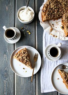 Carrot Cake with Pistachio Crumble. #Easter #spring #cakes #desserts
