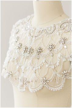 HANDMADE Bridal cape wedding cloak bridal cape Cover up Hand Embroidery Dress, Tambour Embroidery, Couture Embroidery, Embroidery Fashion, Hand Embroidery Designs, Embroidery Patterns, Tambour Beading, Bridal Cape, Lesage