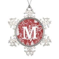 SEASONAL – CHRISTMAS – the magic of the holiday makes another appearance in an adorable presentation of holiday decor, like a custom monogram pewter snowflake christmas ornament.