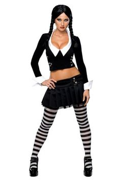 ADDAMS FAMILY SEXY WEDNESDAY ADULT COSTUME available at www.rebelcircus.com #halloween #costume