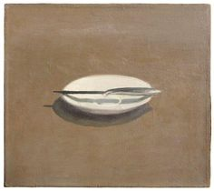 Vija Celmins: Untitled (Knife and Dish) , 1964