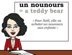 Le mot (utile) du jour : « un nounours » [œ̃ nunuʀs]  #fle #WordOfTheDay #learnfrench #fle Les Machin (@Les_Machin) | Twitter