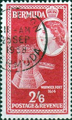 Bermuda 1953 Queen Elizabeth SG 146 Arms of St Georges Fine Used SG 146 Scott 158 Other British Commonwealth Empire and Colonial stamps Here