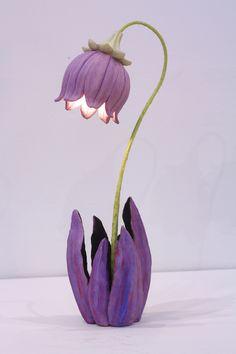 57 New Ideas Wedding Garden Diy Flower Pots – Diy Garden Ceramic Flowers, Clay Flowers, Nylon Flowers, Flower Lamp, Flower Pots, Giant Flowers, Purple Flowers, Fleurs Kanzashi, Crepe Paper Flowers Tutorial