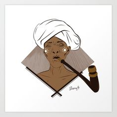 Xhosa Umakhulu Art Print by Sherwin Engelbrecht - X-Small African Quilts, Xhosa, Tribal Fashion, African Attire, My People, Old Women, The Dreamers, Art Projects, Disney Characters