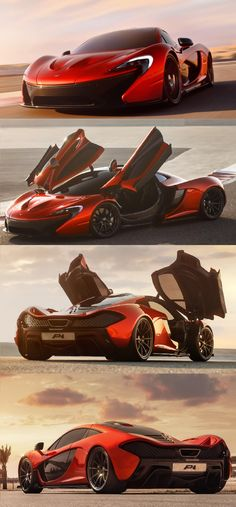 Ultimate Supercar McLaren P1 Red McLaren definitely have another winner on their hands with the P1. From the F1, they have made the body more sculpted and have taken a more fluid design route making for an interesting head turner of a vehicle